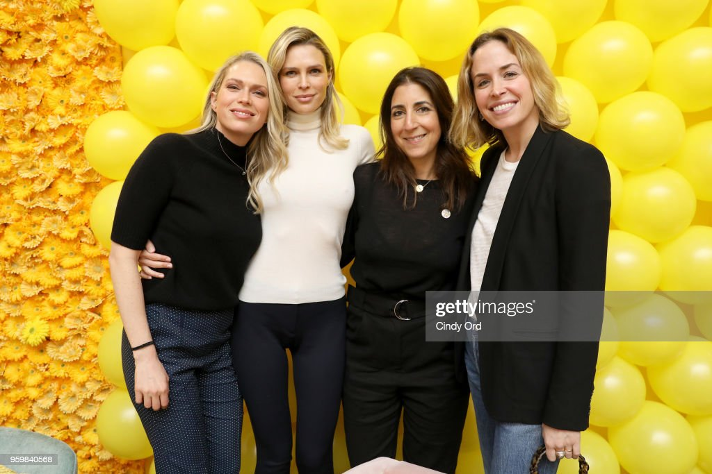 Erin Foster, Sara Foster, Andrea Lieberman and Brett Heyman attend a panel discussion on power dressing with Bumble's Sara & Erin Foster and designer Andrea Lieberman hosted by Saks at Saks Fifth Avenue on May 18, 2018 in New York City.