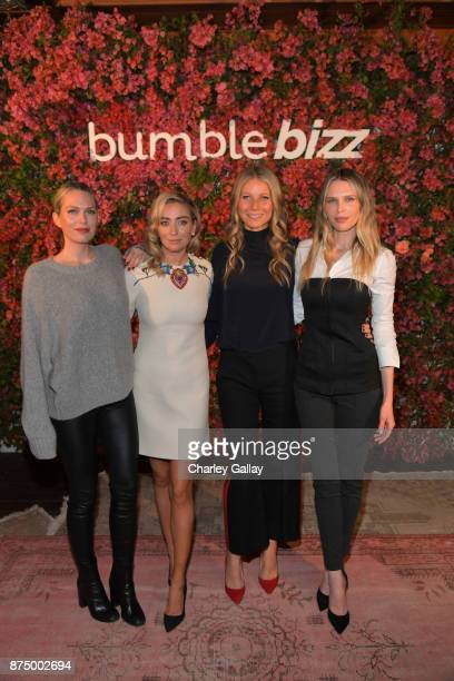 Erin Foster Whitney Wolfe Herd Gwyneth Paltrow and Sara Foster attends Bumble Bizz Los Angeles Launch Dinner At Nobu Malibu at Nobu Malibu on...