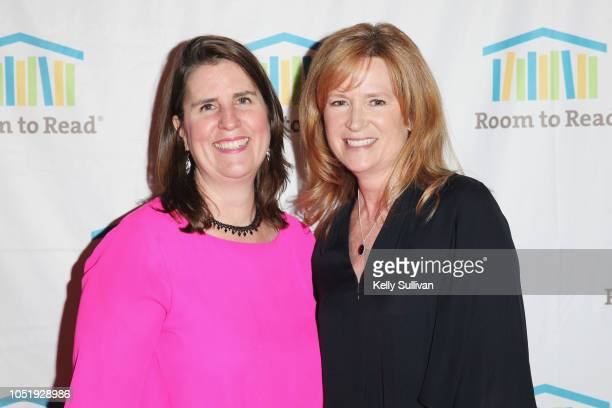 Erin Ganju and Hilary Valentine attend Room To Read 2018 International Day Of The Girl Benefit at One Kearny Club on October 11 2018 in San Francisco...