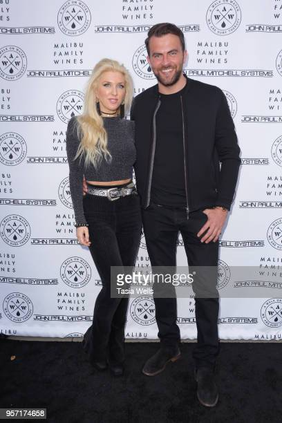 Erin Gavin and Scott Bradshaw attend Waves of Love charity fundraiser hosted by leading surf therapy organization A Walk on Water at Annenberg Beach...