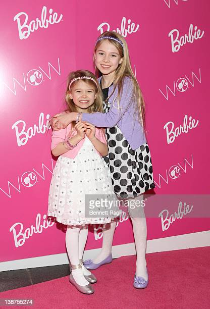 Erin Gerasimovich and Alexa Gerasimovich attends the Barbie The Dream Closet event during MercedesBenz Fashion Week at David Rubenstein Atrium on...