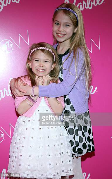 Erin Gerasimovich and Alexa Gerasimovich visits Barbie's Dream Closet in Lincoln Center at the David Rubenstein Atrium on February 11 2012 in New...
