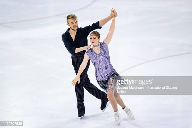 Erin Gillies and Joshua Tarry of Great Britain compete in the Junior Ice Dance Short Dance during the ISU Junior Grand Prix of Figure Skating Riga...