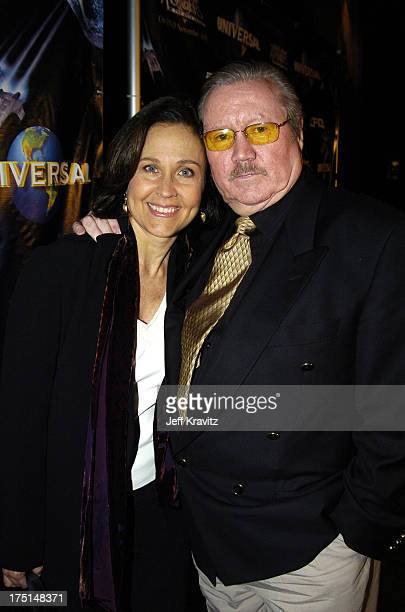 Erin Gray and Producer Glen Larson during 25th Anniversary Cast and Crew Reunion of Buck Rogers In The 25th Century at Egyptian Theatre in Los...