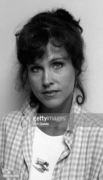 Erin Gray attends Exclusive Photo Session on April 7 1983 at her home in Studio City California