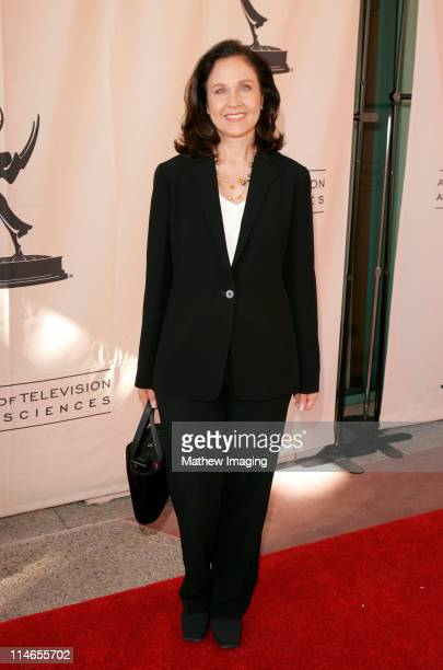 Erin Gray during 57th Annual Los Angeles Area Emmy Awards Arrivals Reception at Leonard H Goldenson Theatre in North Hollywood California United...