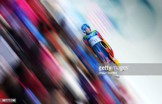 Erin Hamlin of The United States competes during the Luge Women's Singles on day 5 of the 2010 Winter Olympics at Whistler Sliding Centre on February...