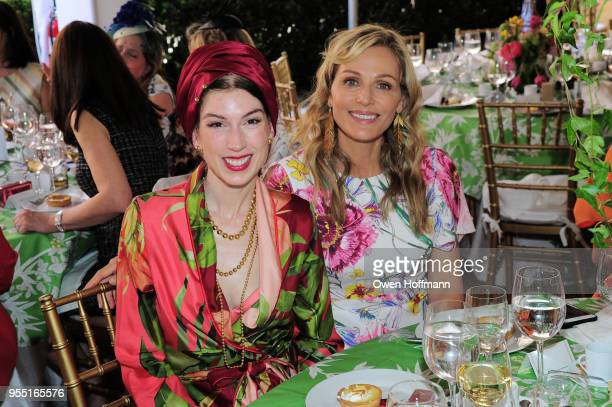 Erin Hazelton and Jamie Tisch attend 36th Annual Frederick Law Olmsted Awards Luncheon Central Park Conservancy at The Conservatory Garden in Central...