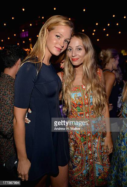Erin Heatherton and Harley VieraNewton attend Soho House New York's 10th birthday celebration with a live performance by Mumford and Sons on the roof...