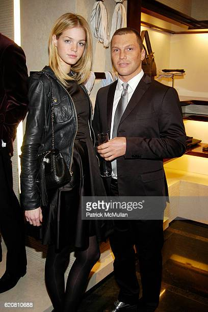 Erin Heatherton and Sean Avery attend ERMENEGILDO ZEGNA Store Opening Cocktail Party For The Robin Hood Foundation at Ermenegildo Zegna Store 5th Ave...