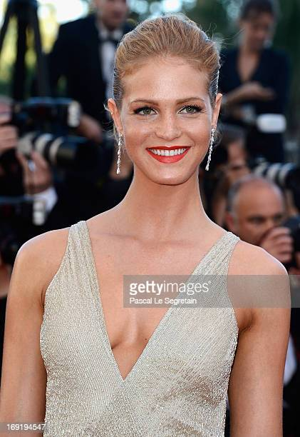 Erin Heatherton attends the 'Behind The Candelabra' premiere during The 66th Annual Cannes Film Festival at Theatre Lumiere on May 21 2013 in Cannes...