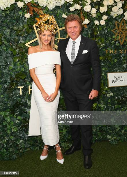 Erin Holland and Richard Wilkins arrive ahead of the Star Doncaster Mile Inaugural Luncheon at The Star on March 30 2017 in Sydney Australia