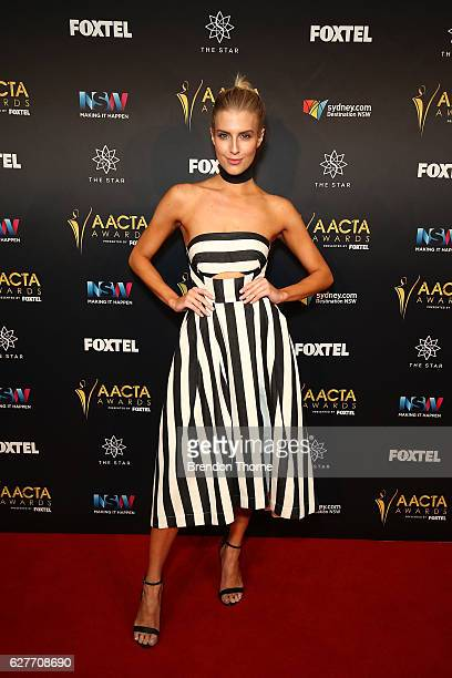 Erin Holland arrives ahead of the 6th AACTA Awards Presented by Foxtel | Industry Dinner Presented by Blue Post at The Star on December 5, 2016 in...