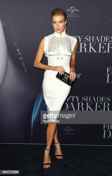 Erin Holland arrives ahead of the Fifty Shades Darker launch screening at Hoyts Entertainment Quarter on February 8 2017 in Sydney Australia