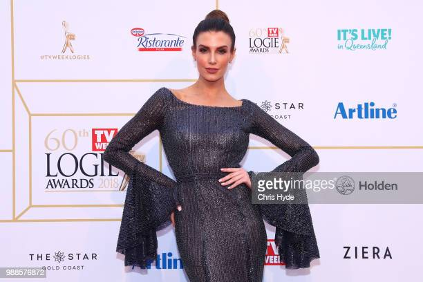 Erin Holland arrives at the 60th Annual Logie Awards at The Star Gold Coast on July 1 2018 in Gold Coast Australia