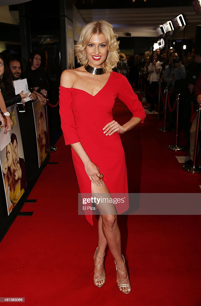Erin Holland attends at the Trainwreck Australian premiere at Event Cinemas George Street on July 20, 2015 in Sydney, Australia.
