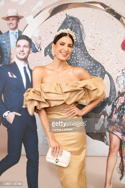 Erin Holland attends Golden Eagle Day at Rosehill Gardens on October 31, 2020 in Sydney, Australia.