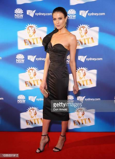 Erin Holland attends opening night of Evita at Sydney Opera House on September 18 2018 in Sydney Australia
