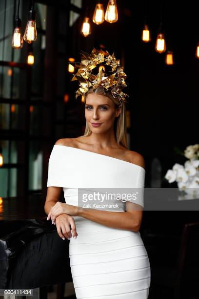 Erin Holland poses during the Star Doncaster Mile Inaugural Luncheon at The Star on March 30 2017 in Sydney Australia