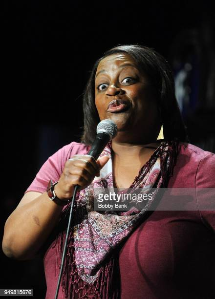 Erin Jackson performs at The Stress Factory Comedy Club on April 21 2018 in New Brunswick New Jersey