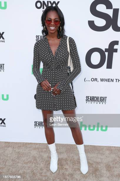 """Erin Jones-Wesley attends a Cinespia Special Screening Of Fox Searchlight And Hulu's """"Summer Of Soul"""" With Questlove at The Greek Theatre on July 09,..."""