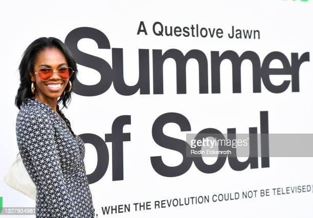 """Erin Jones-Wesley attends the Cinespia Special Screening of Fox Searchlight and Hulu's """"Summer Of Soul"""" with Questlove at The Greek Theatre on July..."""
