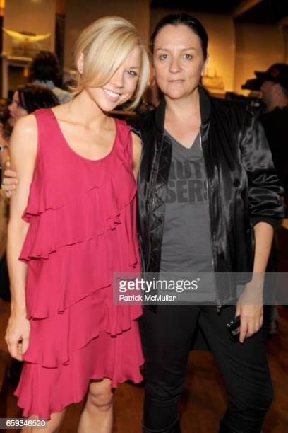 Erin Kaplan and Kelly Cutrone attend LONGCHAMP ELLE Present ELDAR Benefitting the KIPTON ART FOUNDATION at Longchamp on September 8 2009 in New York...