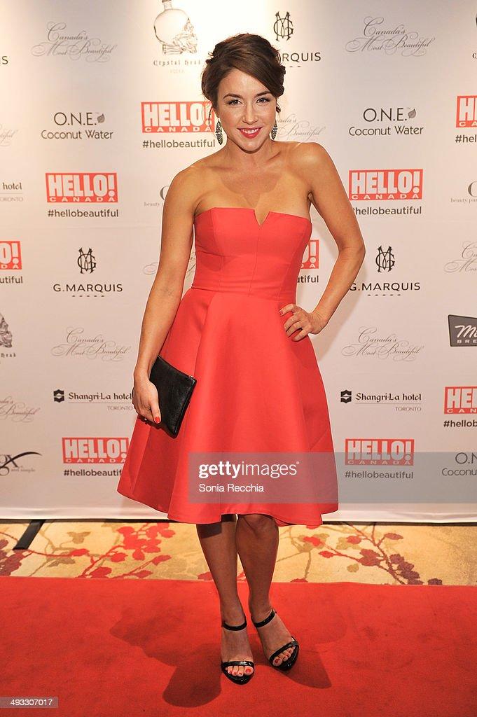 Erin Karpluk attends HELLO! Canada Gala Celebrates Canada's Most Beautiful Gala at Shangri-La Hotel on May 22, 2014 in Toronto, Canada.