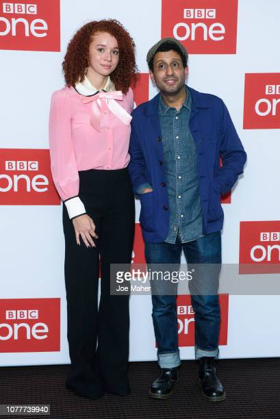 Erin Kellyman and Adeel Akhtar attend a photocall for BBC One's 'Les Miserables' at BAFTA on December 05 2018 in London England
