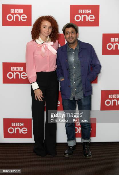 Erin Kellyman and Adeel Akhtar attend BBC OneÕs Les Miserables launch at BAFTA in London.