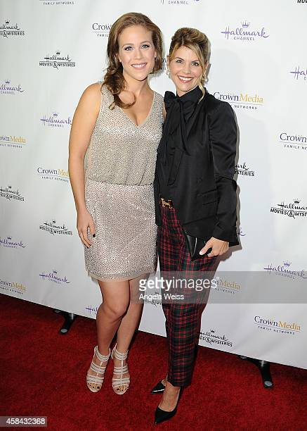 Erin Krakow and Lori LLoughlin arrive at Hallmark Channel's annual holiday event premiere screening of Northpole at La Piazza Restaurant on November...