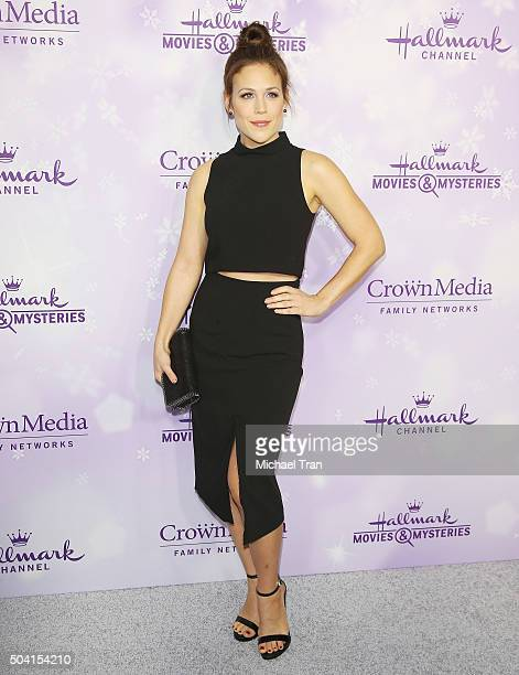 Erin Krakow arrives at Hallmark Channel/Hallmark Movies and Mysteries party during the Winter 2016 TCA press tour held at Tournament House on January...
