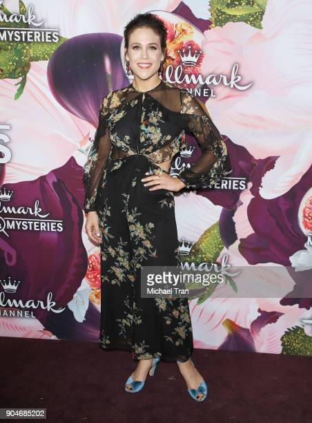 Erin Krakow arrives to the Hallmark Channel and Hallmark Movies and Mysteries Winter 2018 TCA Press Tour held at Tournament House on January 13 2018...