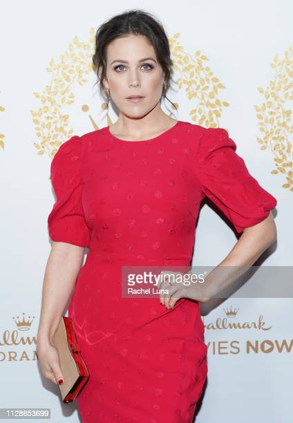 Erin Krakow attends Hallmark Channel And Hallmark Movies And Mysteries 2019 Winter TCA Tour at Tournament House on February 09 2019 in Pasadena...