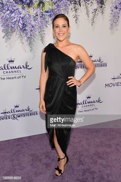 Erin Krakow attends the 2018 Hallmark Channel Summer TCA at Private Residence on July 26 2018 in Beverly Hills California