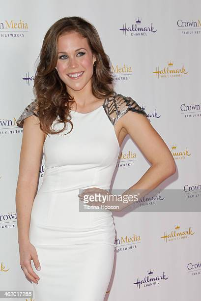 Erin Krakow attends the Hallmark Channel Hallmark Movie Channel TCA event at The Huntington Library and Gardens on January 11 2014 in San Marino...