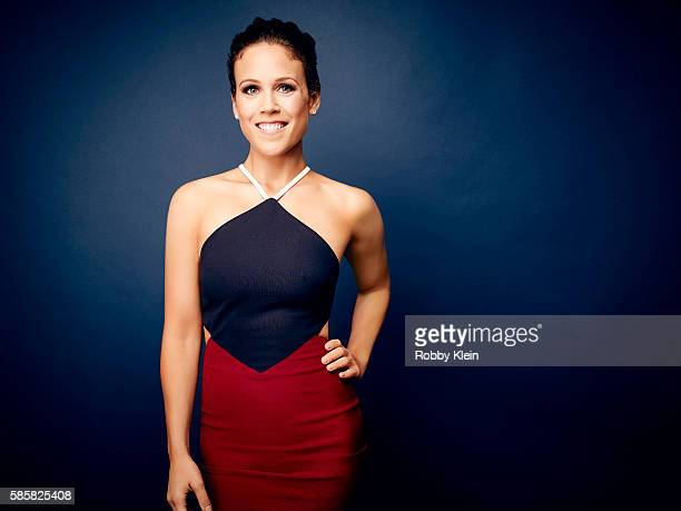 Erin Krakow is photographed at the Hallmark Channel Summer 2016 TCA's on July 27 2016 in Los Angeles California