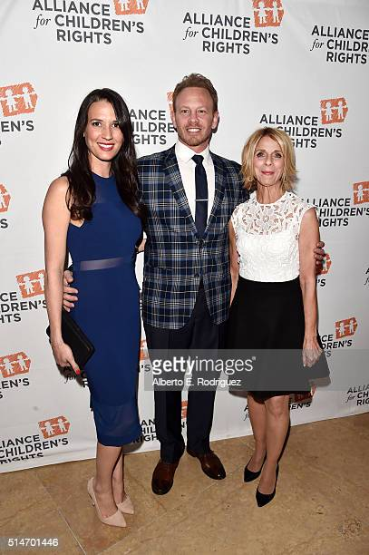 Erin Kristine Ludwig actor Ian Ziering and President/CEO of The Alliance for Children's Rights Janis Spire attend the Alliance for Children's Rights'...