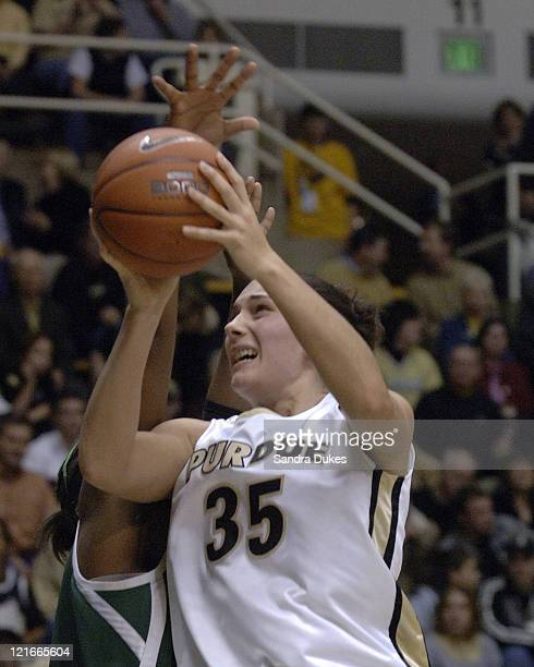 Erin Lawless shoots in traffic in the 2nd half of Purdue's 73-53 win over Michigan State in Mackey Arena, West Lafayette, Indiana on January 26, 2006.