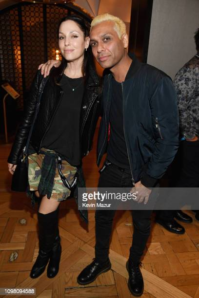 Erin Lokitz and Tony Kanal attend the KISS Performs Private Concert For SiriusXM At Whisky A Go Go In Los Angeles at Whisky a Go Go on February 11...