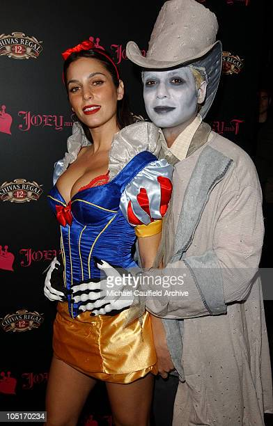 Erin Lokitz and Tony Kanal during Joey and T Halloween Party with Moet Chandon Champagne at Avalon Nightclub in Hollywood California United States
