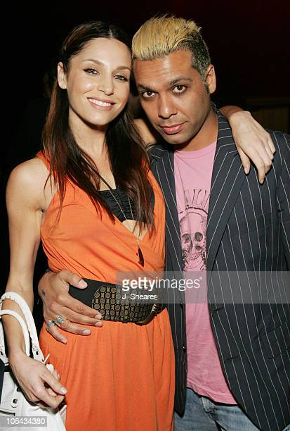 Erin Lokitz with Tony Kanal of No Doubt during Lords of Dogtown Los Angeles Premiere After Party at Avalon in Hollywood California United States