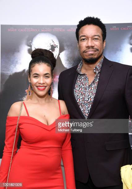 Erin Mackenzie and actor Rico E Anderson attend the premiere of Get Gone at Arena Cinelounge on January 24 2020 in Hollywood California