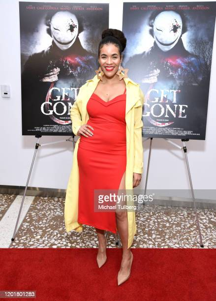 Erin Mackenzie attends the premiere of Get Gone at Arena Cinelounge on January 24 2020 in Hollywood California