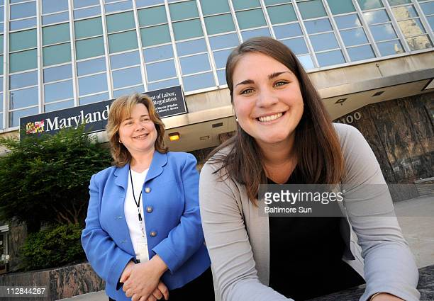 Erin McDermott right is an intern in the Division of Unemployment Insurance in the Maryland state labor department and was hired by Assistant...