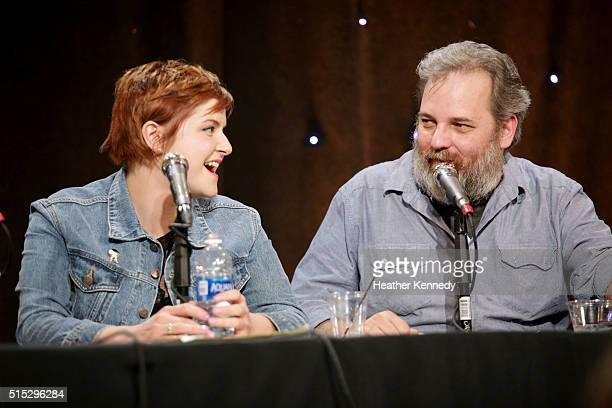 Erin McGathy and Dan Harmon speak onstage at HarmonQuest during the 2016 SXSW Music, Film + Interactive Festival at Esther's Follies on March 12,...