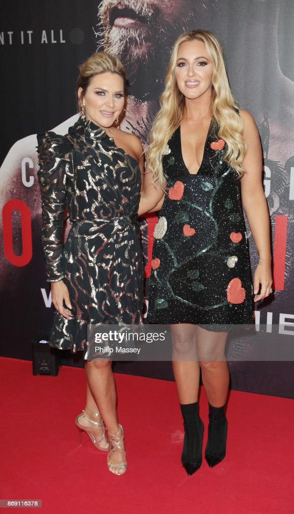 Erin McGgregor and Aoife McGregor attend the Irish premiere of 'Conor McGregor: Notorious' held at the Savoy Cinema on November 1, 2017 in Dublin, Ireland.