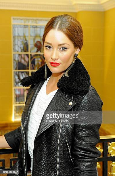 Erin McNaught arrives at the Marie Claire 25th birthday celebration featuring Icons of Our Time in association with The Outnet at the Cafe Royal...