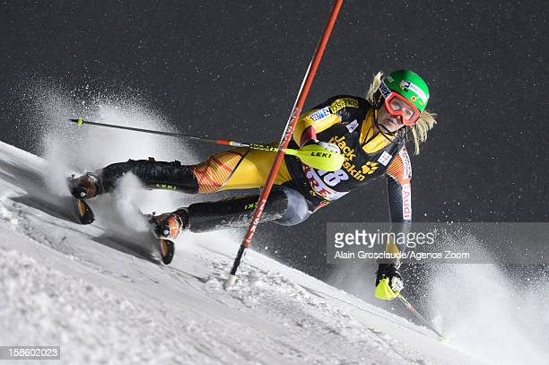Erin Mielzynski of Canada competes during the Audi FIS Alpine Ski World Cup Women's Slalom on December 20 2012 in Are Sweden