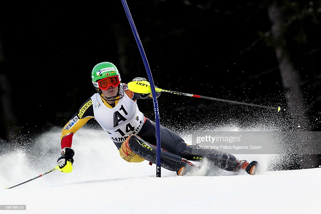 Erin Mielzynski of Canada competes during the Audi FIS Alpine Ski World Cup Women's Slalom on December 29, 2012 in Semmering, Austria.
